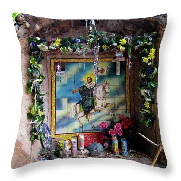 Santiago Apostel Chimayo Throw Pillow by Kurt Van Wagner