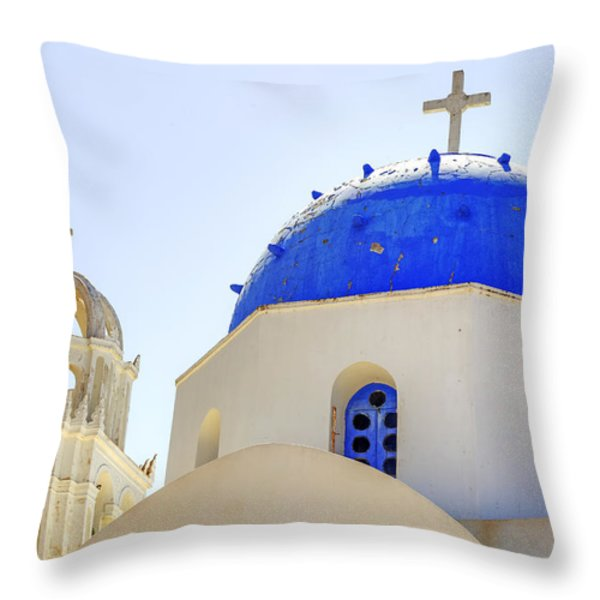 Santorini Throw Pillow by Joana Kruse