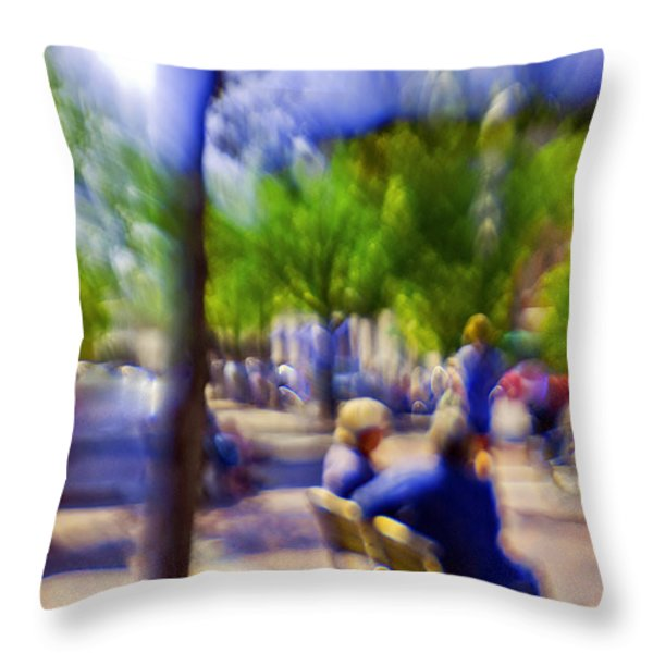Saturday Afternoon II Throw Pillow by Madeline Ellis