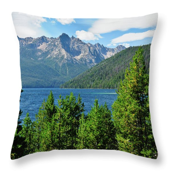 Sawtooth Serenity II Throw Pillow by Greg Norrell
