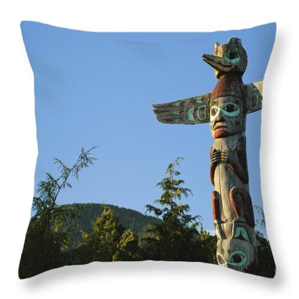 Saxman Totem Park Throw Pillow by Greg Vaughn - Printscapes