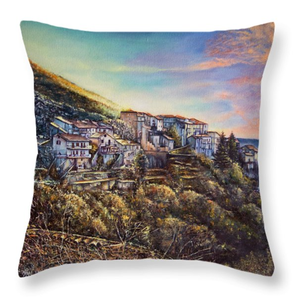 Scattered Clouds Throw Pillow by Michel Angelo Rossi