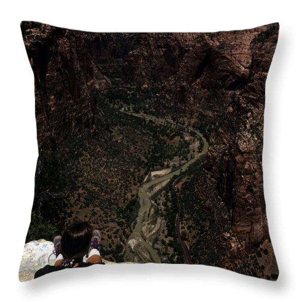 Scenic View Of Zion National Park Throw Pillow by Stacy Gold
