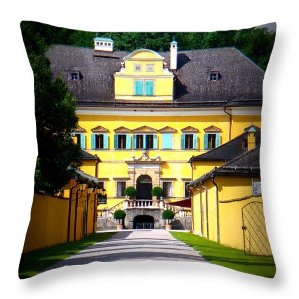 Schloss Hellbrunn Throw Pillow by Carol Groenen
