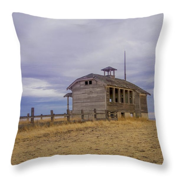 School House Throw Pillow by Jean Noren