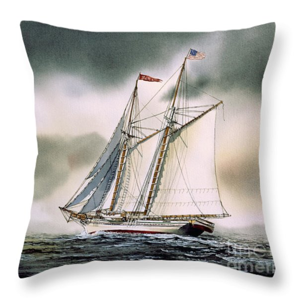 Schooner Heritage Throw Pillow by James Williamson