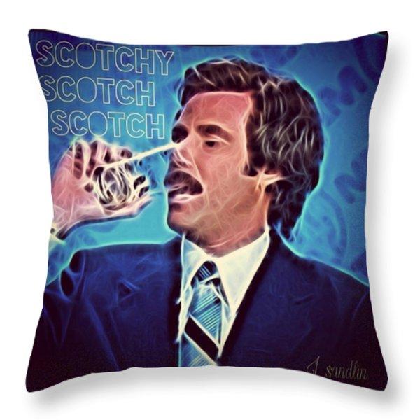 Scotchy Scotch Scotch Throw Pillow by J S