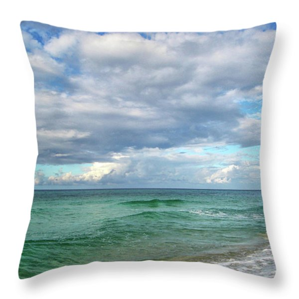 Sea and Sky - Florida Throw Pillow by Sandy Keeton