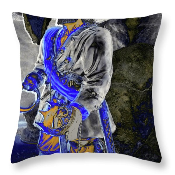Sea King Throw Pillow by Molly McPherson