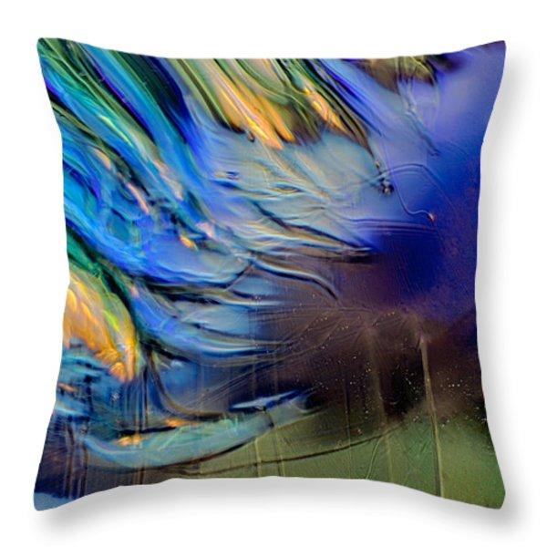Sea Monster Throw Pillow by Omaste Witkowski