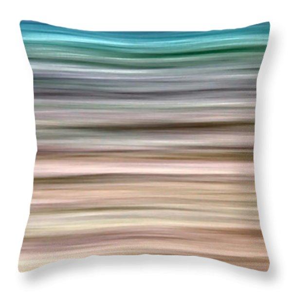 Sea Movement Throw Pillow by Stelios Kleanthous