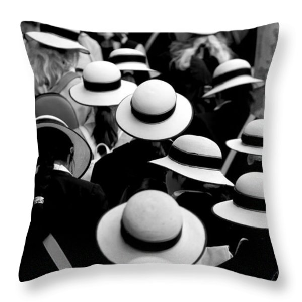 Sea Of Hats Throw Pillow by Sheila Smart