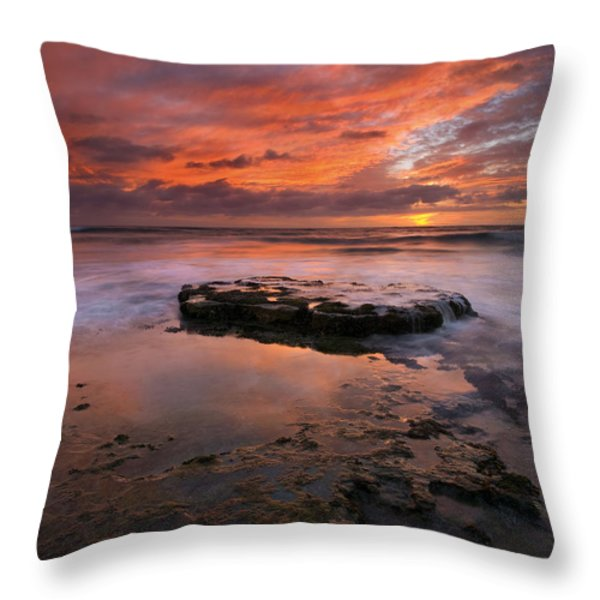 Sea Of Red Throw Pillow by Mike  Dawson