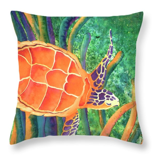 Sea The Beauty Throw Pillow by Tracy L Teeter