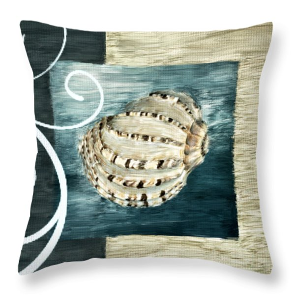 Sea Treasure Throw Pillow by Lourry Legarde