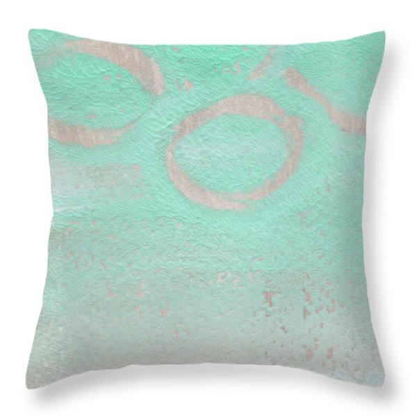 Seaglass Throw Pillow by Linda Woods