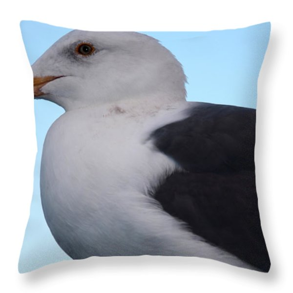 Seagull Throw Pillow by Aidan Moran
