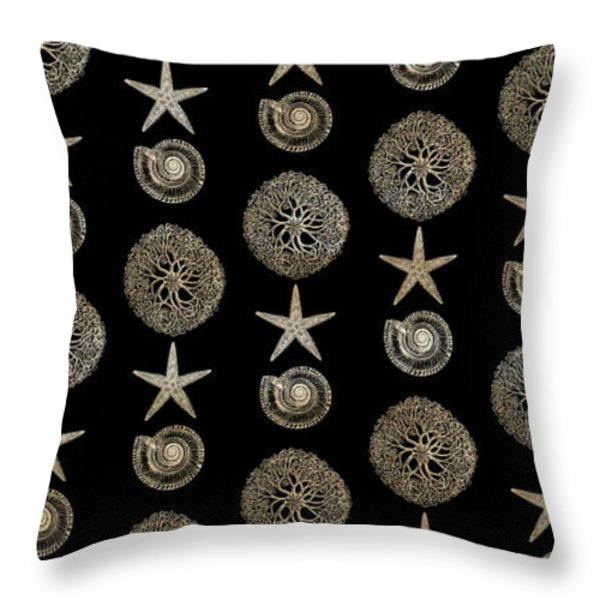 Throw Pillow featuring the painting Seashell Pattern by Frank Tschakert