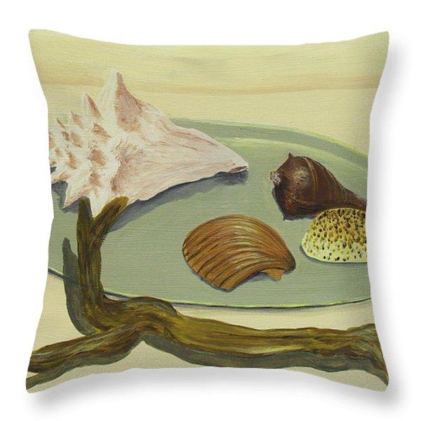 Seashells Throw Pillow by Jose Valeriano