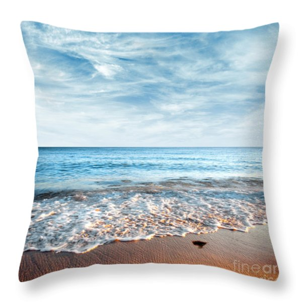 Seashore Throw Pillow by Carlos Caetano