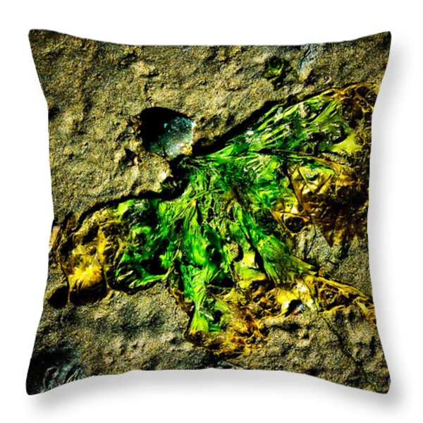 Seaside Angel Throw Pillow by Venetta Archer
