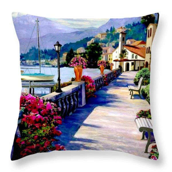 Seaside Pathway Throw Pillow by Ronald Chambers