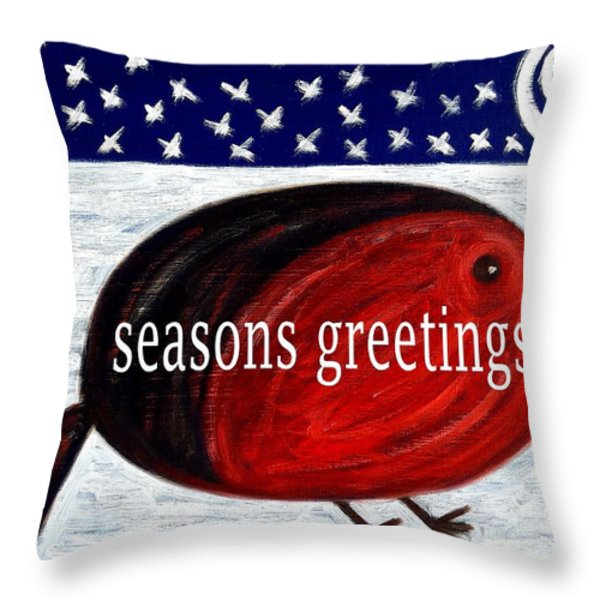 Seasons Greetings 4 Throw Pillow by Patrick J Murphy