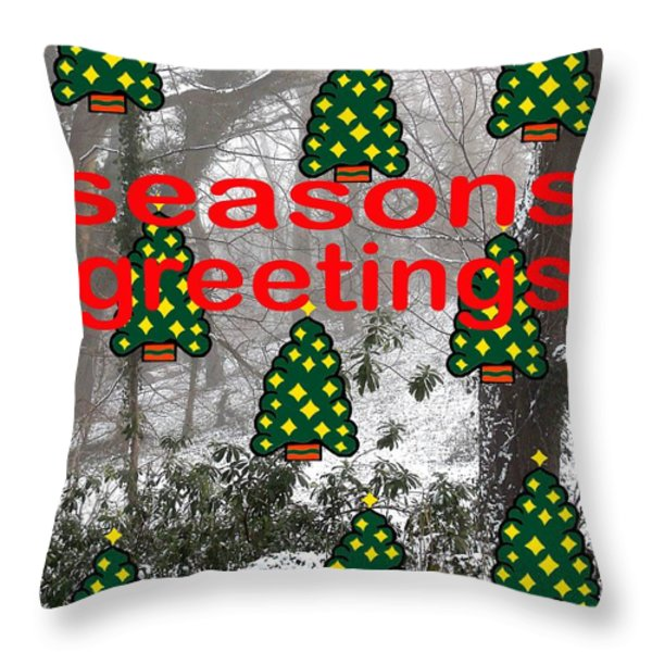Seasons Greetings 8 Throw Pillow by Patrick J Murphy