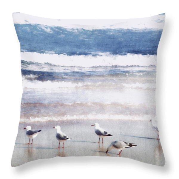 Seaspray Throw Pillow by Holly Kempe