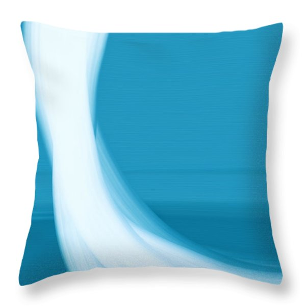 Throw Pillow featuring the painting Seaview by Frank Tschakert