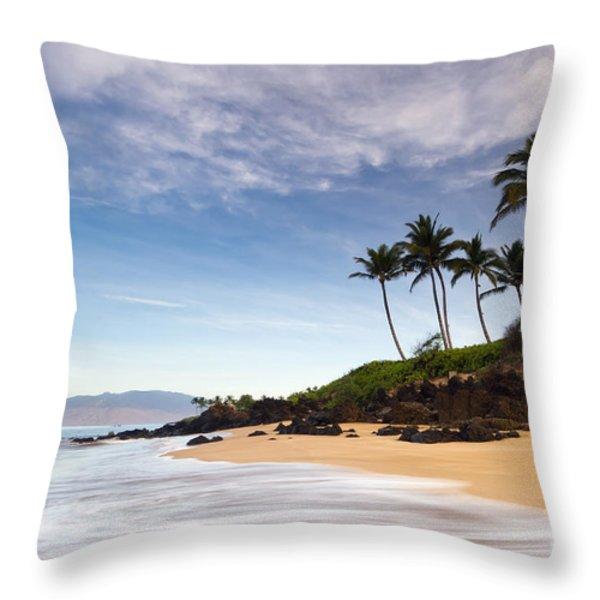 Secret Beach Maui Sunrise Throw Pillow by Dustin K Ryan