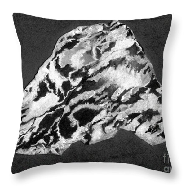 Secret Mountain Throw Pillow by Mary Zimmerman