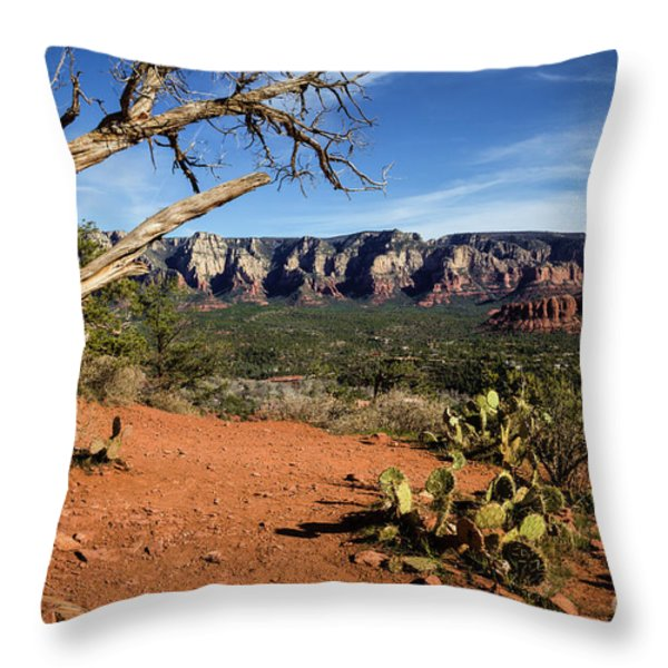 Sedona Overlook Throw Pillow by Jon Burch Photography