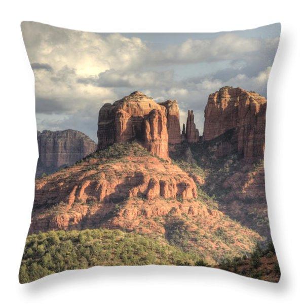 Sedona Red Rock Vista Throw Pillow by Sandra Bronstein