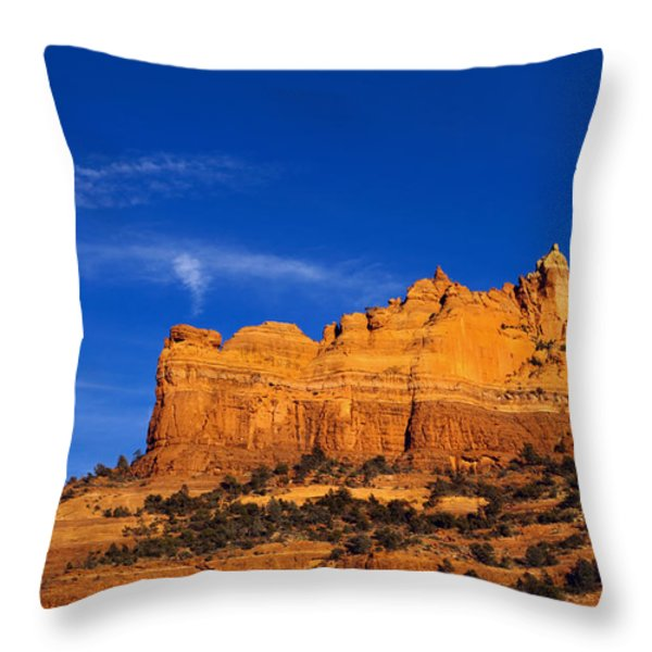 Sedona Smoke Signals Throw Pillow by Mike  Dawson
