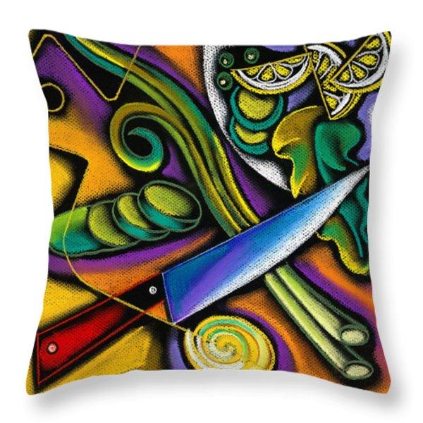 Seduction Throw Pillow by Leon Zernitsky