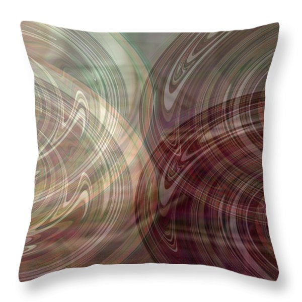Seeing Double Throw Pillow by Donna Proctor