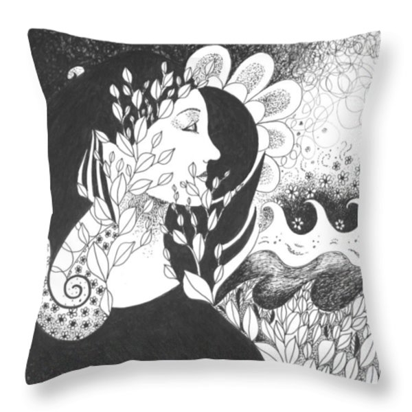 Seeing Light Throw Pillow by Helena Tiainen