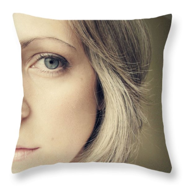 self-portrait Throw Pillow by Amy Tyler