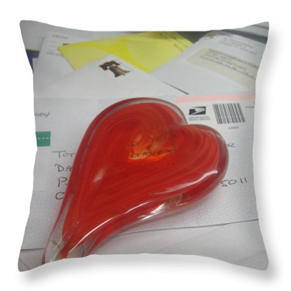 Sending You My Heart Through The Mail Throw Pillow by WaLdEmAr BoRrErO