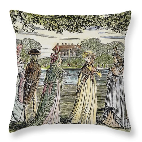 Sense & Sensibility, 1811 Throw Pillow by Granger