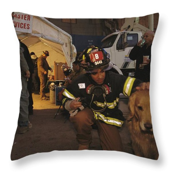 September 11th Rescue Workers Receive Throw Pillow by Ira Block
