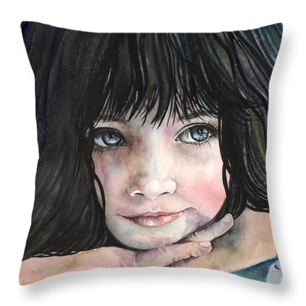 Serendipity Throw Pillow by Kim Whitton