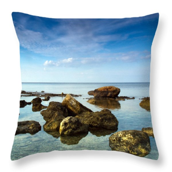 serene Throw Pillow by Stylianos Kleanthous