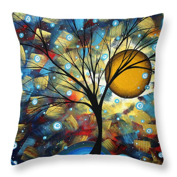Serenity Falls By Madart Throw Pillow by Megan Duncanson