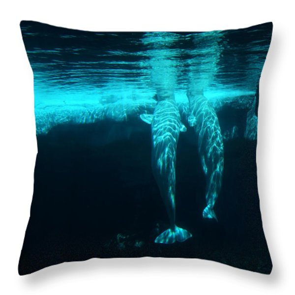 Serenity  Throw Pillow by Linda Knorr Shafer