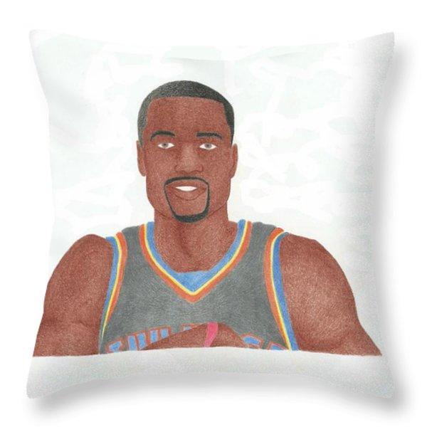 Serge Ibaka Throw Pillow by Toni Jaso