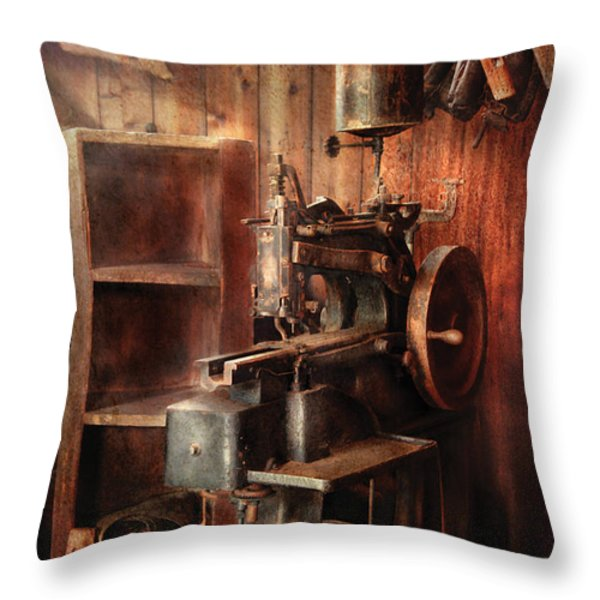 Sewing - Sewing Machine for Saddle Making Throw Pillow by Mike Savad