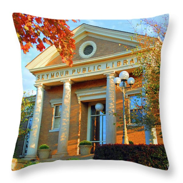 Seymour Public Library Throw Pillow by Jost Houk