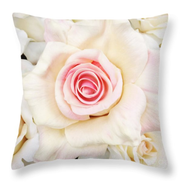 Shabby Chic Romantic Roses Photography Throw Pillows for Sale